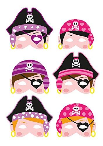 Caretas de piratas de espuma para fiesta infantil.