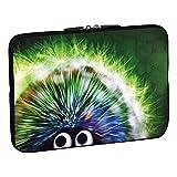 Pedea Design Schutzhülle Notebook Tasche (15,6 Zoll, Green Hedgehog)