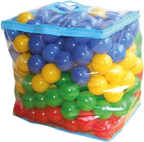 Bieco Bälle für Bällebad | 250 Stück, Größe ca. 6 cm | Bunte Bälle | Kinder Bällebad Bälle | Plastic Balls | Geeignetes Bällebad für Babys, Bällebad Kinder oder als Bällebad für Hunde