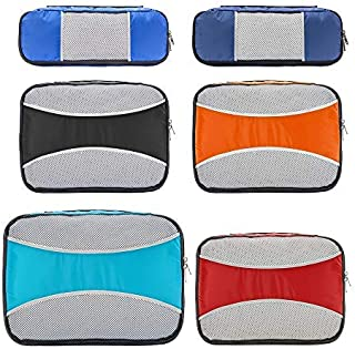 6 Set Packing Cubes for Travel,ZOMAKE Packing Organizers Bag for Carry on Luggage Multicoloured