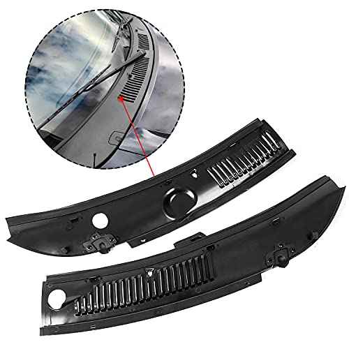 ECOTRIC 2Pcs Windshield Wiper Cowl Vent Grille Panel Hood Compatible with...
