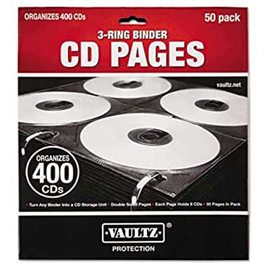 Vaultz R CD Binder Pages, Pack of 50