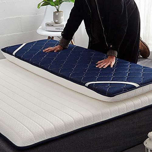 Thicken matras van traagschuim, tattoo of matras, hypoallergeen, voor matras, futon, opvouwbaar, mat, voor meditatie, kampeertochten 90x200x6cm Wit.