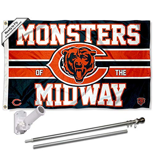 WinCraft Chicago Bears Monsters of The Midway Flag Pole and Bracket Mount Kit
