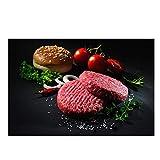 Gemüse Fleisch Hamburger Küche Leinwand Malerei Cuadros