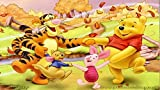 3D Wooden Puzzle Set 1000 Pieces - Winnie The Pooh Poster Album Viii - Diy Model Kits For Adults Teens And Children - Ideal Christmas And New Year Gift 38*26CM