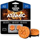 KontrolFreek Atomic for PlayStation 4 (PS4) and PlayStation 5 (PS5) Controller   Performance Thumbsticks   2 Mid-Rise Convex   Orange