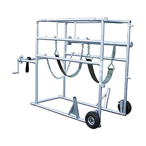 Zoccolo Cura Crush Compact Stall, con base, 2 ruote, verricello piede posteriore - 310004