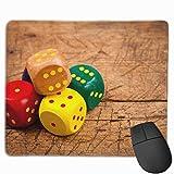 Mauspad mit Spielwürfel, rechteckig, rutschfest, 24,9 x 29,5 cm, einzigartige Designs