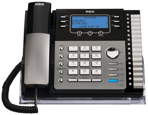 rca corded cordless phones RCA 25423RE1 ViSys 4-Line Expandable System Phone with Intercom