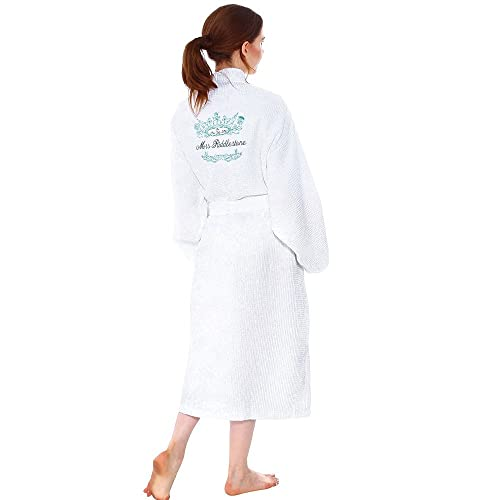 69caccfa55 Star and Stripes Personalised Bathrobe Waffle Embroidered with Your Name  Wedding Day Dressing Gown Robe