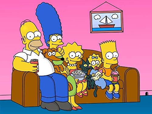 IUWAN Edición de coleccionista para Adultos 1000 Los Simpson en el sofá, Que Incluye póster, Rompecabezas Imposible, Juguete Educativo de Color milagroso 38x26 CM