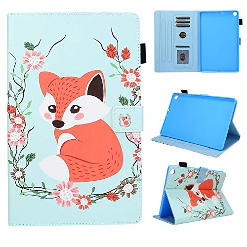 Galaxy Tab A 2019 Case Cover -Ultra Slim and Lightweight PU Leather Stand Case Cover Magnetic Closure Tablet Protector for Samsung Galaxy Tab A 8.0 Inch SM-T290/SM-T295 (Pink Fox)