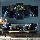 Affiche sur Toile Murale 5 pièces Jeu vidéo Avengers Vie Artiste Maison décoration Moderne...
