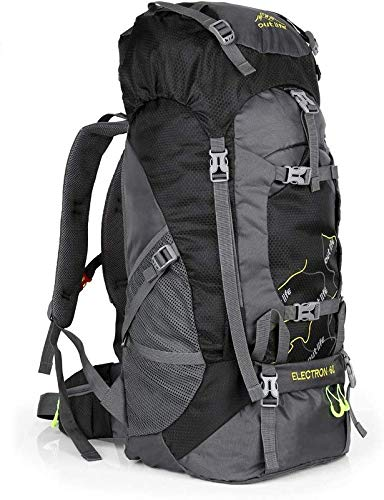 OUTLIFE Hiking Backpack 60L Lightweight Water Reasistant Trekking Bag Durable Outdoor Sport Daypack for Climbing Mountaineering Fishing Travel Cycling