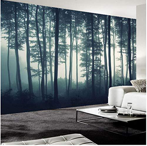 Achtergrondfoto 3D wallpaper woonkamer aangepaste fotobehang 3D dichte mist boom muurschildering woonkamer TV sofa slaapkamer muurschildering natuur landschap behang