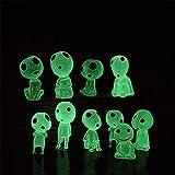 Molinter Mini Gartendeko Prinzessin Mononoke leuchtende Baum Elfen Puppe Micro Landschaft Ornament aus Harz für Puppenhaus Puppenhausmöbel Gartenmöbel Deko Garten 10PCS/Set