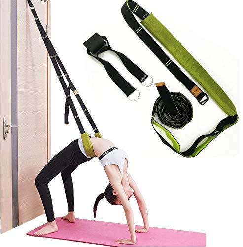 XEMZ Dimagrante Cinghie di Yoga Balletto Cintura Elastica Yoga Cinture Home simulatori Pilates Resistenza Fitness Corda Stretch Strap D-Ring Yoga Cinghie (Lago Blu)