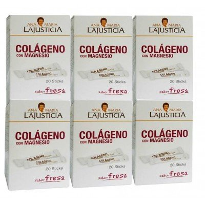 AnaMariaLaJusticia - PACK 6U. COLAGENO con MAGNESIO SABOR FRESA 20 STICK ANA MARIA LAJUSTICIA - pack-6colageno-magnesio-sticks