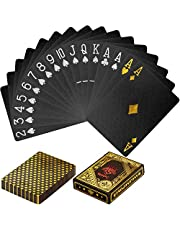 Maxstore Cartas plásticas de póquer Design, 100% Impermeables, Resistentes a los desgarros, Variantes: Juego de Mesa de Cartas de plástico con Cubierta de póquer