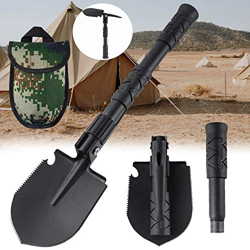 Trifold Folding Shovel Camping Shovel Survival Snow Shovel Apply to Off Road Camping Gardening Backpacking Car Emergency