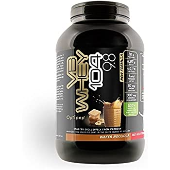 Net Integratori VB WHEY 104 9.8 Optipep Proteine Isolate Idrolizzate Per Via Enzimatica, Wafer Nocciola - 900 g