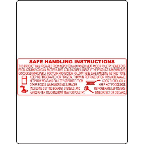 Bizerba, BL-8414, Safe Handling, UPC 58 x 75mm, 24 Rolls/Case, 580 Labels/Roll