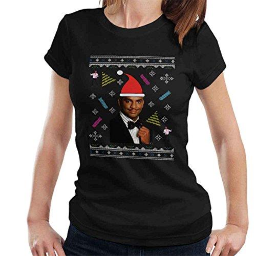 Cloud City 7 Verse Prins van Bel Air Carlton Dance Kerst Gebreide Patroon Vrouwen T-Shirt