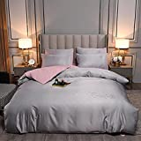 Bedding-LZ Juegos de sábanas 105 x 190,Conjunto de Ropa de Cama de Seda de Lavado de Color sólido.-Di_Conjunto de 1.5m4 (20 * 200)