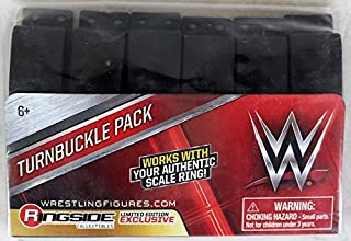 WWE 12-Pack Black Turnbuckles Ringside Exclusive Wicked Cool Toys Toy Wrestling Action Figure Playset Accessory Pack Ring NOT Included