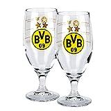 Borussia Dortmund Glas / Bierglas / Pilsglas / Tulbe / Trinkglas 'ERFOLGE' BVB 09
