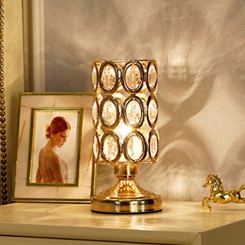 Lámpara de mesa de cristal de diseño moderno, lámpara de mesa de noche de cristal con mando a distancia, lámpara de mesa de noche decorativa, muy adecuada para dormitorio, salón, tocador y regalo idea
