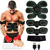 Muscle Stimulator, EMS Abs Trainer Abdominal Belt USB Rechargeable Muscles Toner for Abs