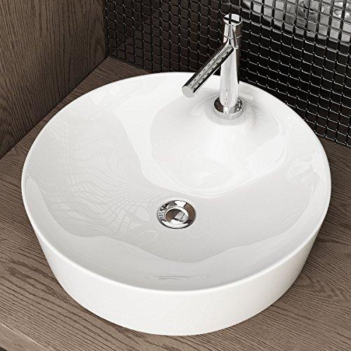 Waschbecken24 Design Keramik AUFSATZWASCHBECKEN WASCHTISCH WASCHSCHALE WASCHPLATZ FÜR Badezimmer GÄSTE WC A285
