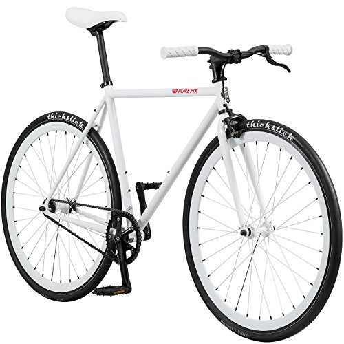 New Pure Fix Original Fixed Gear Single Speed Bicycle, Romeo White, 47cm/X-Small