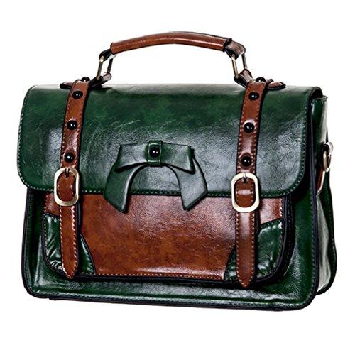 Banned Handtasche/Henkeltasche - Leather Bow Grün