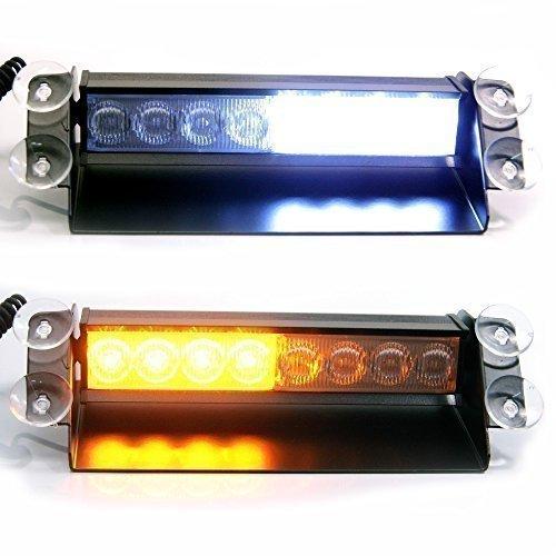 Ambre & LED Blanc Urgence Clignotant Warning Récupération Feu Phare 12v - Idéal pour Voiture Camionnette Fourgon