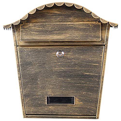 CMmin brievenbus muur mount staal post doos afsluitbare brievenbus W/ophalen deur gegalvaniseerd vel Thuis office post beveiliging buiten 30 * 25cm