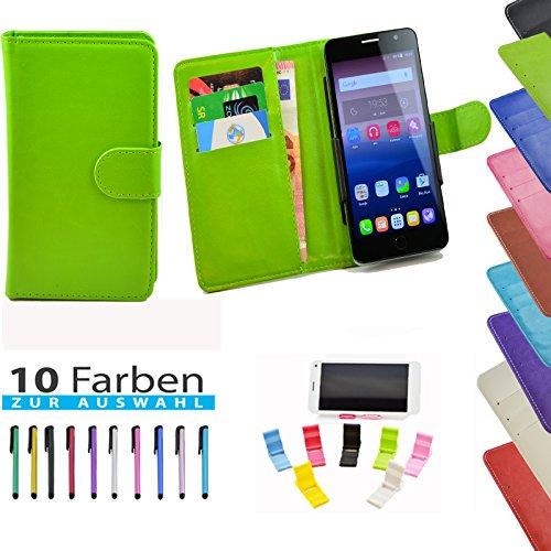 5 in 1 set ikracase Slide Hülle für Coolpad Max (A8) Tasche Case Cover Schutzhülle Smartphone Etui in Grün 5.5