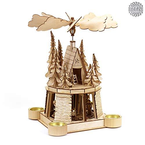 DAMASU-Holzkunst Holzbausatz Weihnachtspyramide Berggeist