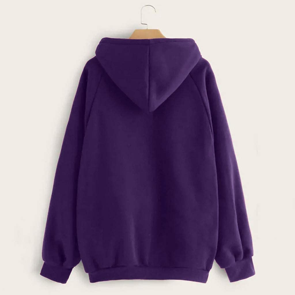 POTO Women Pullover Tops,Women's Casual Letter Print Hooded Long Sleeve Crop Top Sweatshirts Hoodies with Pocket