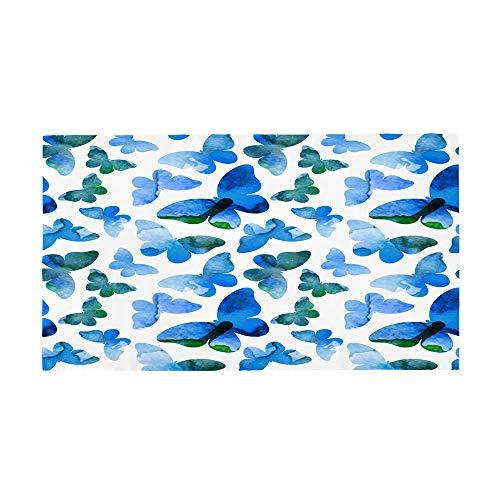 Surwin Toalla de Playa Grande, Microfibra Mariposa Impresión Secado Rápido Toalla de Piscina Toalla de Arena Antiadherente para Verano Playa, Yoga, Picnic, Hotel (Verano,70x150cm)