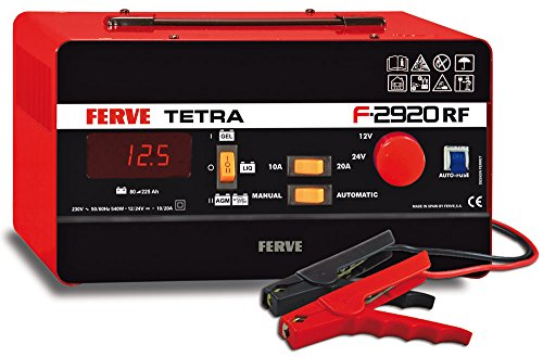 FERVE F-2920 Tetra RF Cargador 12-24V 10-20A, 0