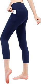 TAIBID Women's Yoga Capris Power Flex Running Pants Workout Leggings, Size S-XL