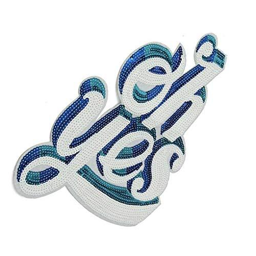 Borduren Kleren Plakken Engelse Letters Applique Kostuum Trui oh ja patroon doek Decoratieve patches DIY-benodigdheden