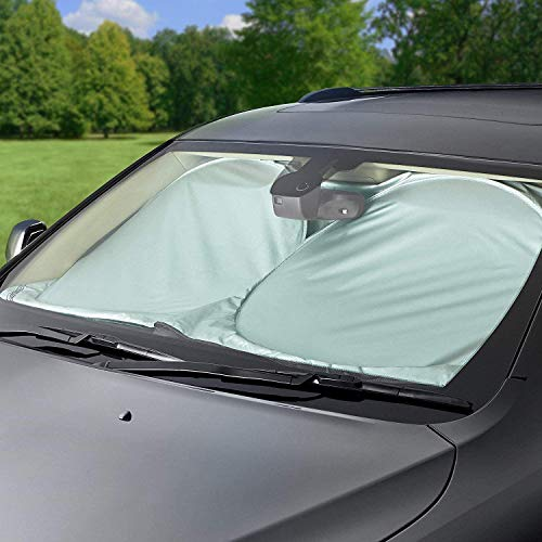 Sonnenschutz für Windschutzscheibe, Vintoney Sonnenschutz für das Auto Frontscheibenabdeckung Windschutz für Frontscheibe Sonnenschutz blockiert UV Abdeckung für verschiedener Größe(150*70 cm)