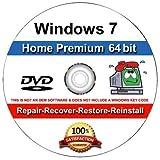 WINDOWS 7 Home Premium 64-Bit Compatible Versions Re-install Windows Factory Fresh! Recover, Repair, Re Install - Restore Boot Disc ~ Fix PC - Laptop - Desktop ~DVD/ROM