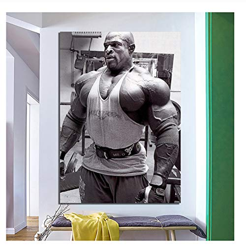Suuyar Ronnie Coleman Canvas Painting - Bodybuilder Mr Olympia vs Arnold Art Poster Print on canvas-60x80cm No Frame
