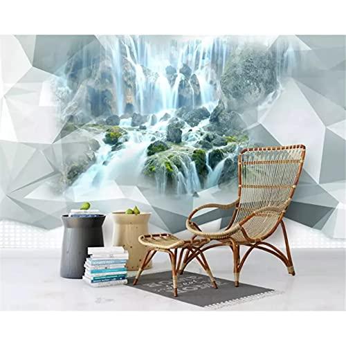 Papel tapiz 3D 3D estéreo abstracto geométrico cascada mural dormitorio sala de estar sofá TV fondo papel de pared 400x280cm