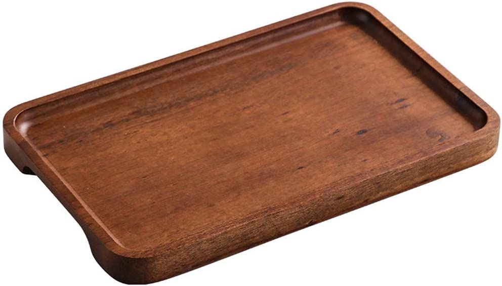 Quality inspection Food Trays,Serving Tray Household Living Woo Room Walnut 2021 autumn and winter new Solid